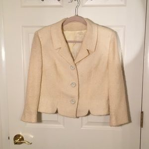 Vintage cream boucle topper jacket